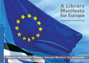 A Library Manifesto for Europe​ postcard